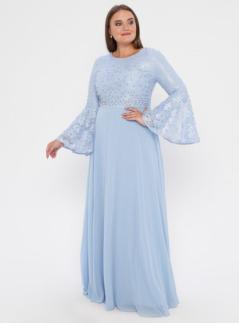 MODAYSA Mavi Boncuk Detaylı Elbise