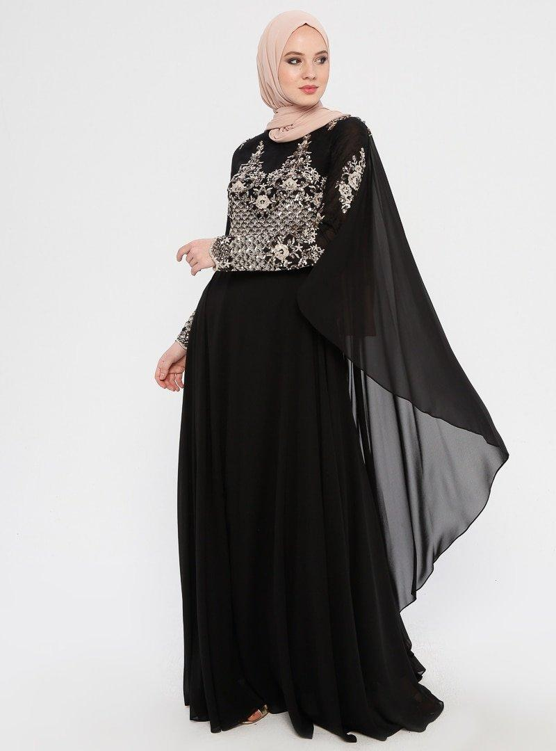MODAYSA Pudra Pul Detaylı Abiye Elbise