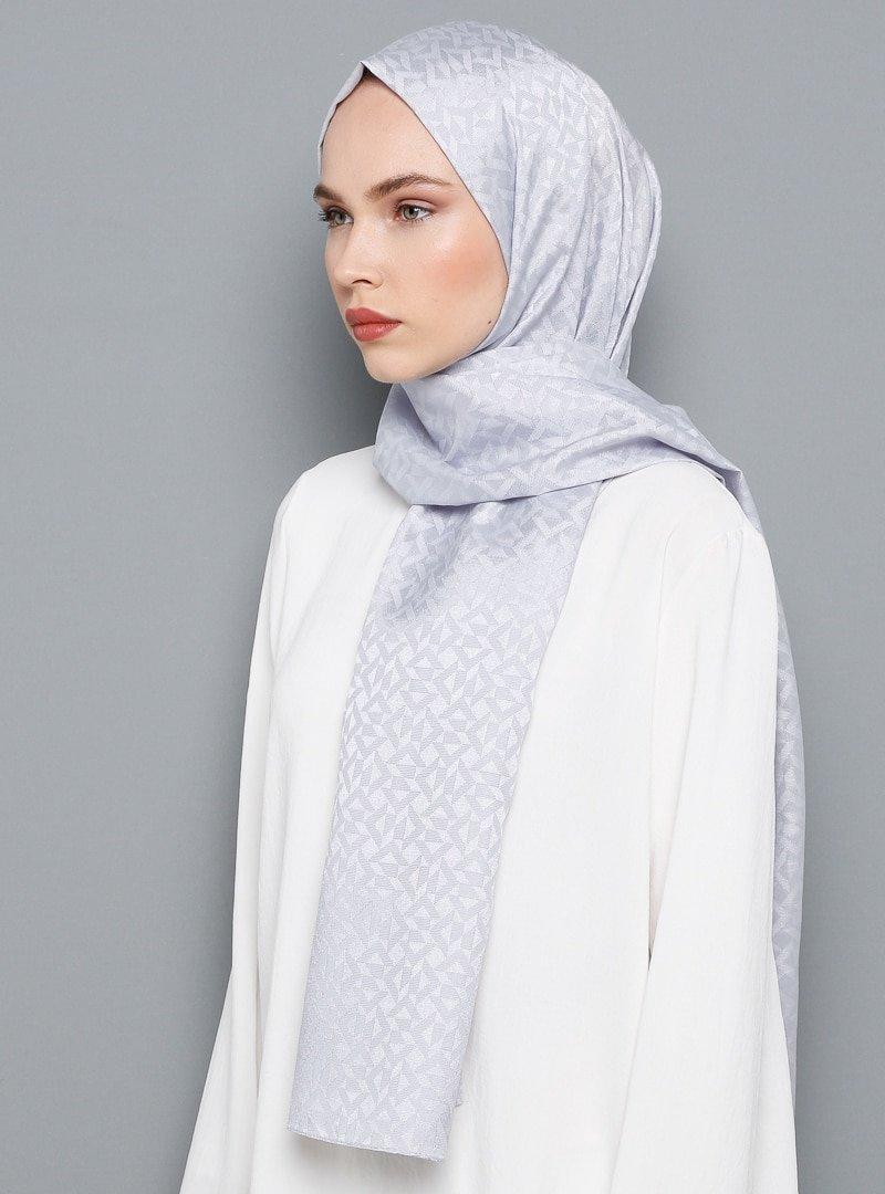 Armine Eşarp Gümüş Trend Şal