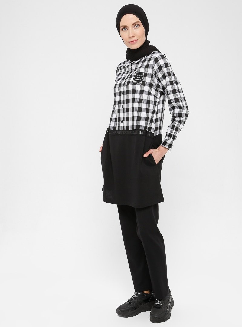 Petra Beyaz Tunik&Pantolon İkili Takım