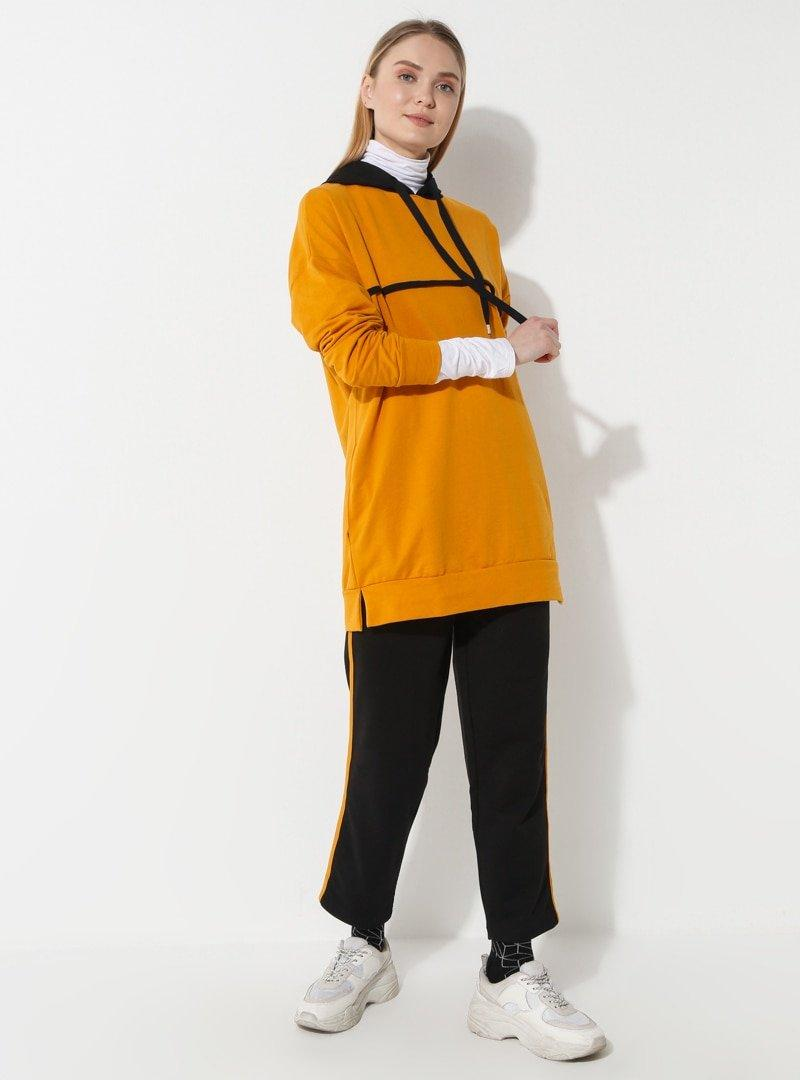 Laruj Hardal Sweatshirt&Pantolon İkili Takım