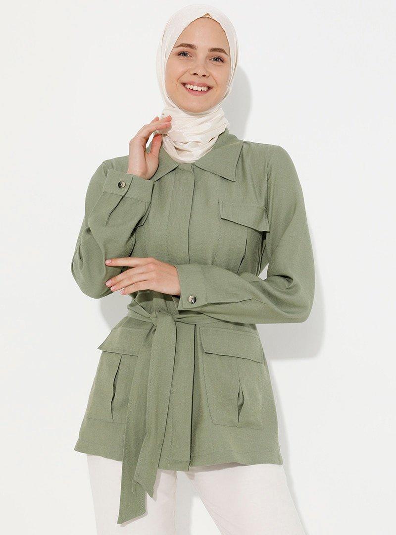 Debsa Çağla Cep Detaylı Ceket
