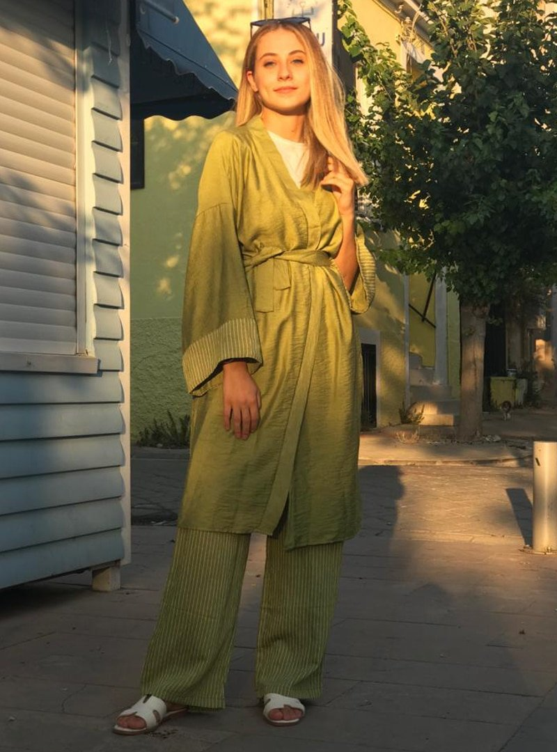 Efkeyem Yeşil Tunik&Pantolon İkili Takım