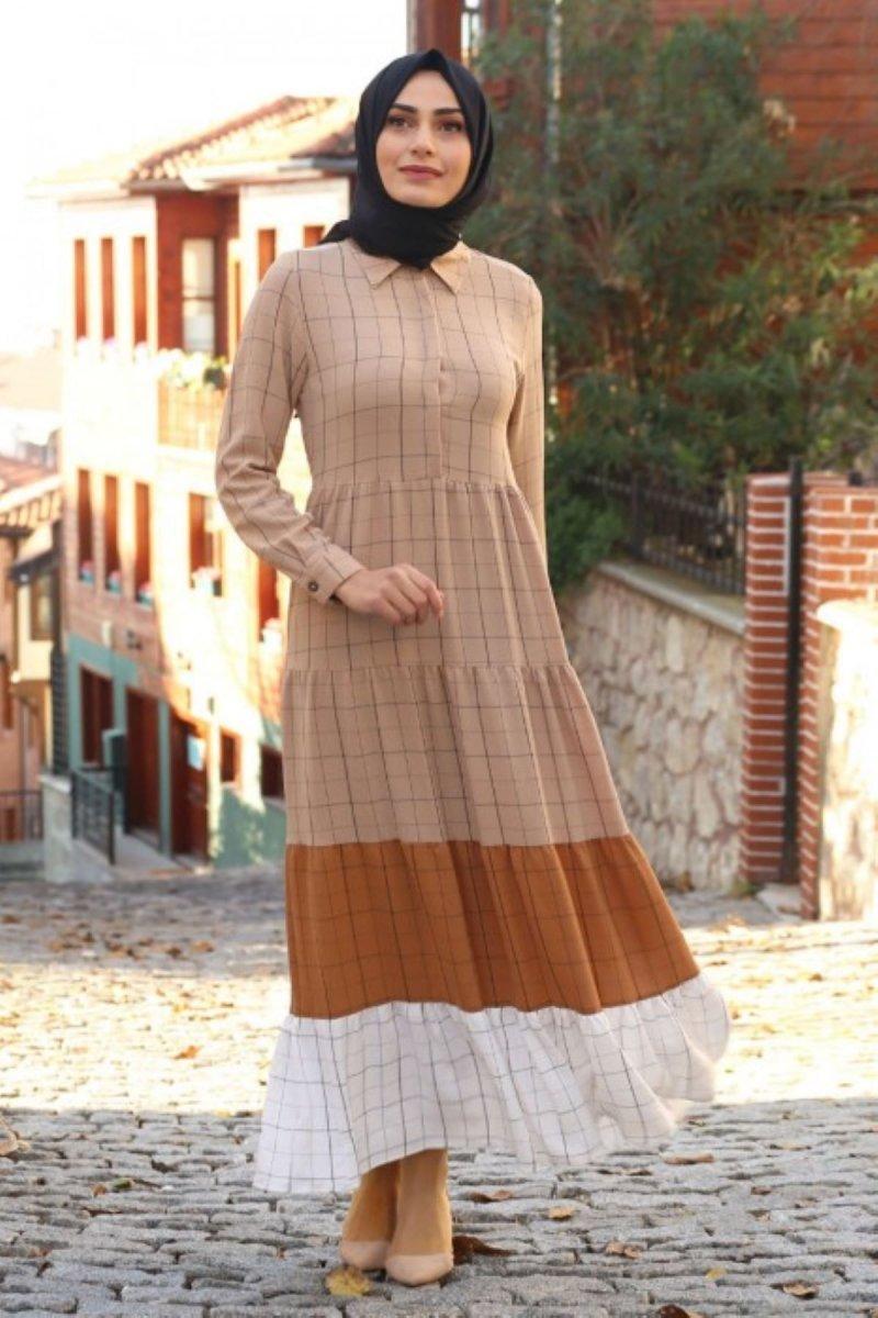Feiza Collection Vizon Çizgi Detaylı Elbise