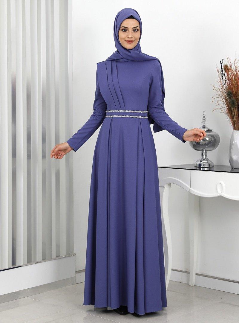 Surikka Leylak Sadem Abiye Elbise