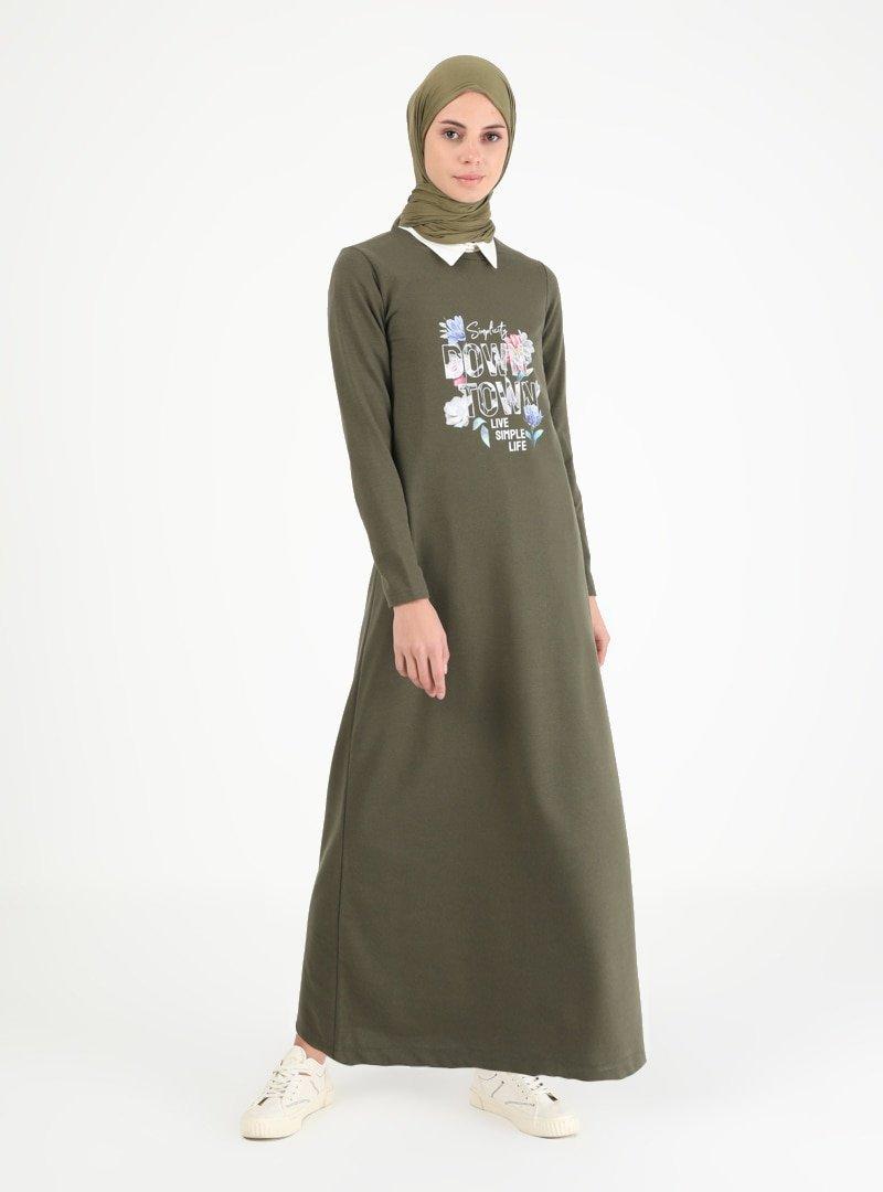 Muni Muni Haki Baskılı Elbise