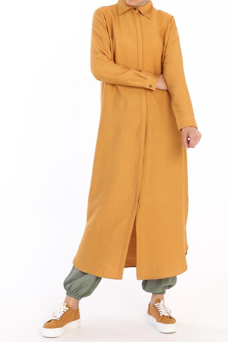 Allday Hardal Gizli Patlı Düğmeli Elbise Tunik