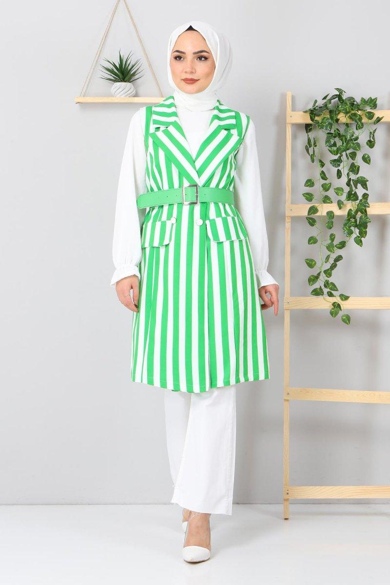 MISSVALLE Yeşil Desenli Ceket