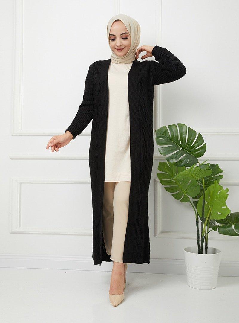 SAHRA BUTİK Siyah Triko Elbise