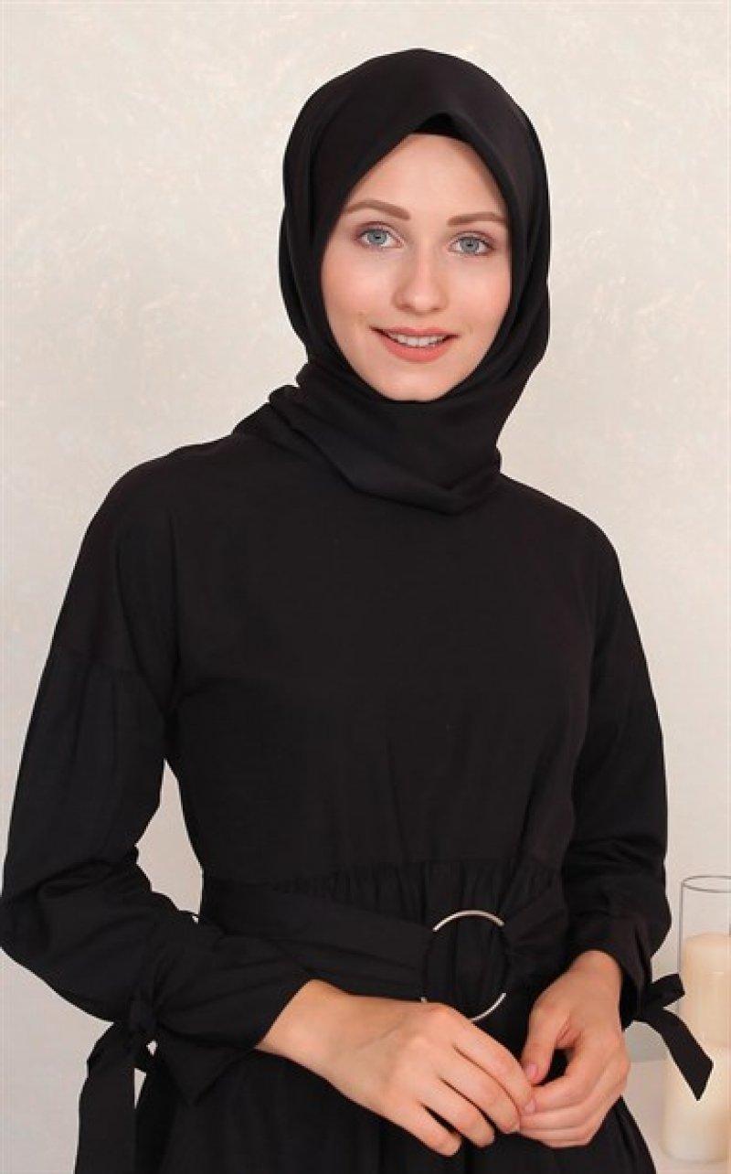 Silk Home Twill Eşarp Siyah