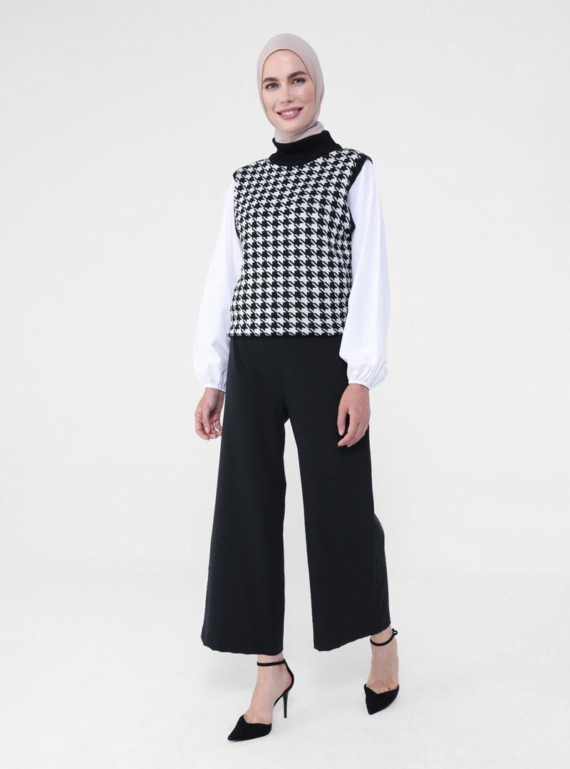 Refka Siyah Basic Takım Pantolonu