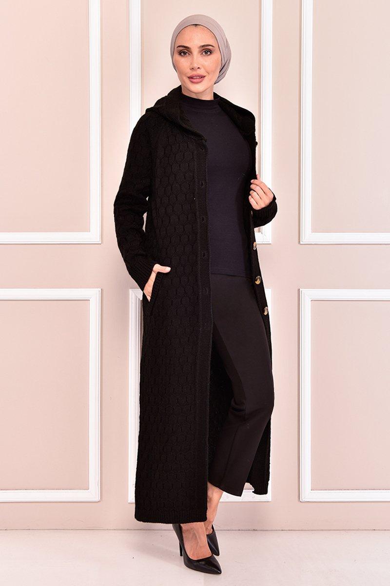 Moda Merve Siyah Triko Hırka