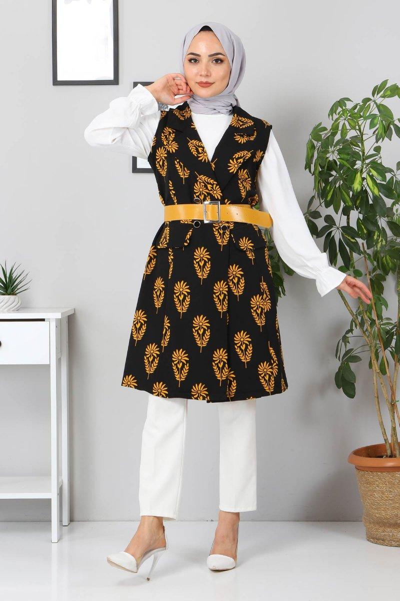MISSVALLE Sarı Desenli Ceket
