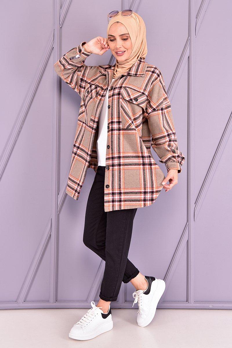 Moda Merve Vizon Oduncu Gömlek