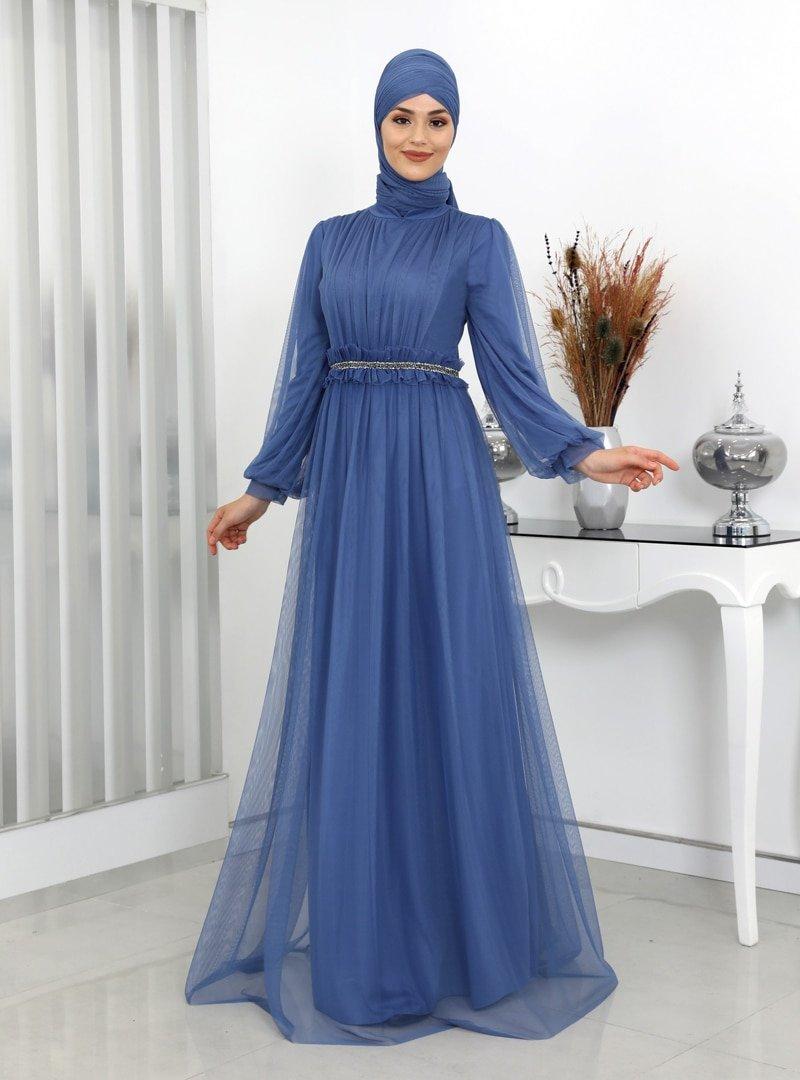 Surikka İndigo Revza Abiye Elbise