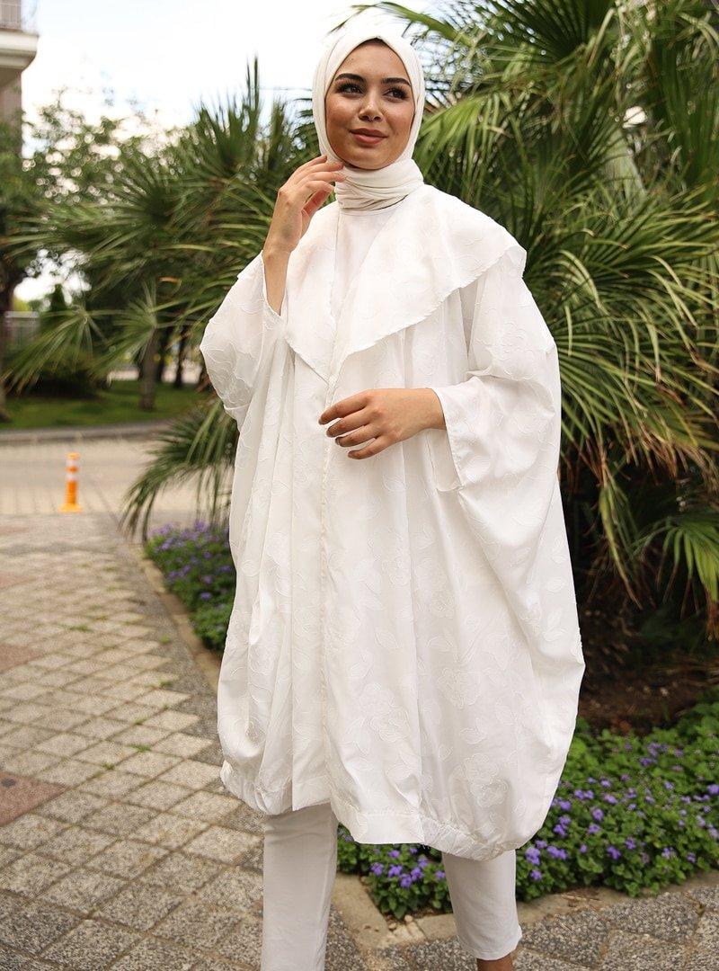 Savewell Woman Beyaz Clara Yarasa Kol 3'lü Kap Takım