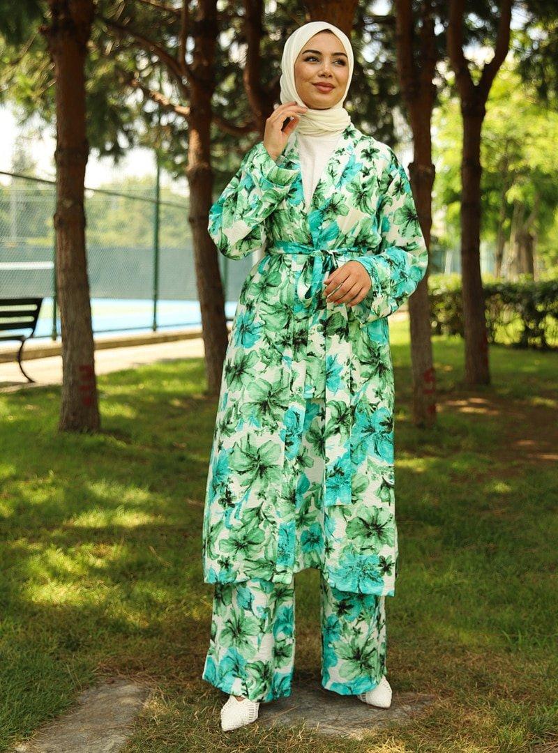 Savewell Woman Yeşil Bonnie Kemerli 3'lü Kap Takım