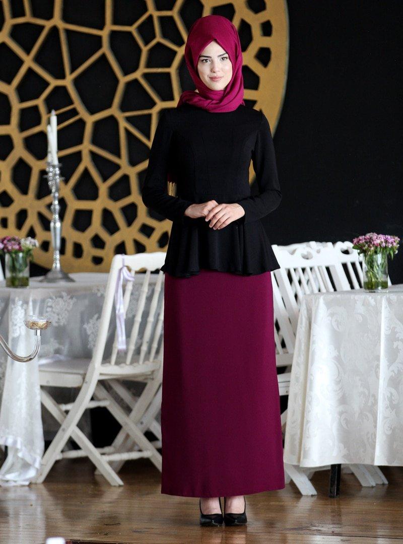 Nurkombin Siyah Şimal Bluz