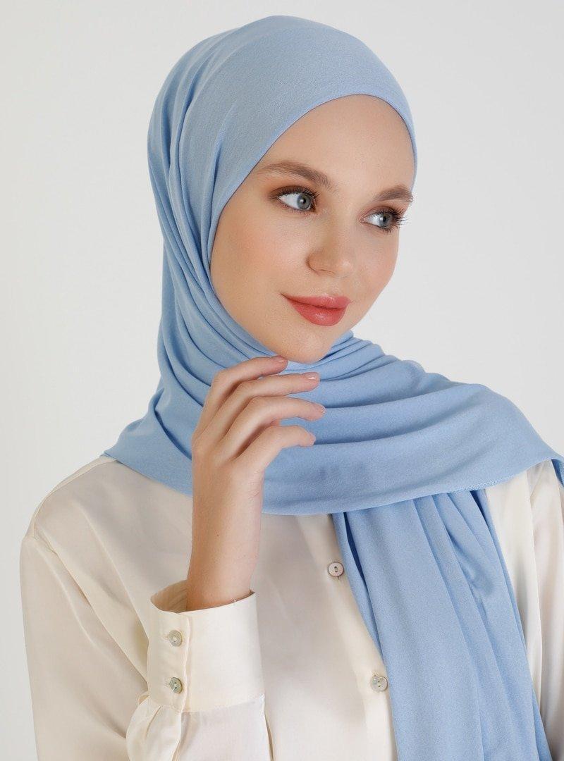 Mujerscarfs Gökyüzü Mavisi Düz Penye Şal