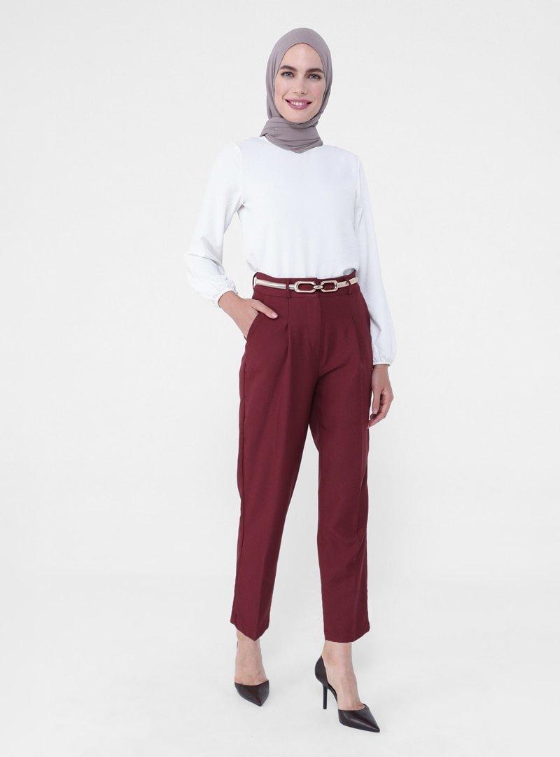 Refka Mürdüm Pile Detaylı Klasik Pantolon