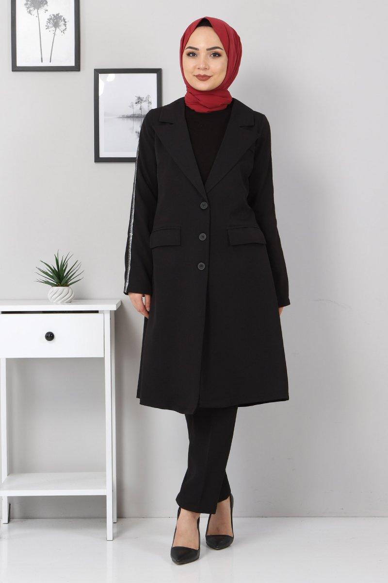 MISSVALLE Siyah Şerit Detay Takım