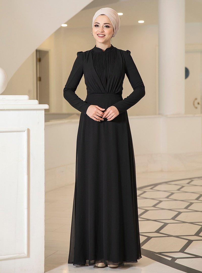 DressLife Siyah Özüm Elbise