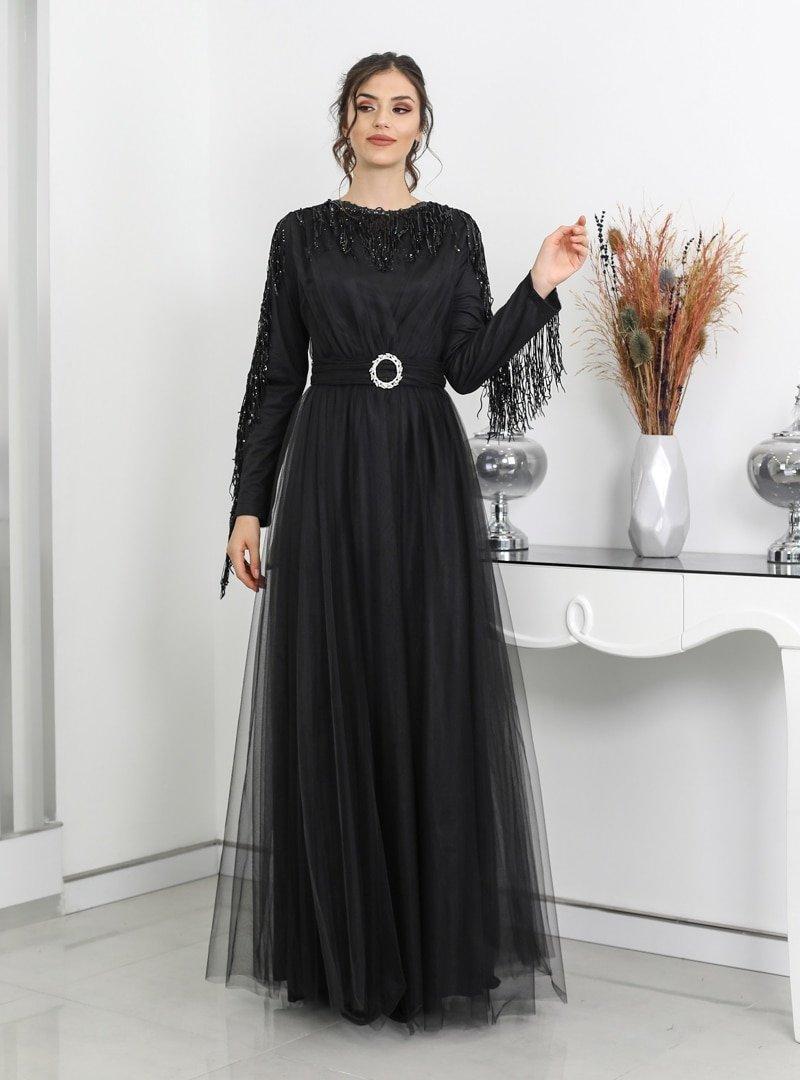 Surikka Siyah Behrem Abiye Elbise