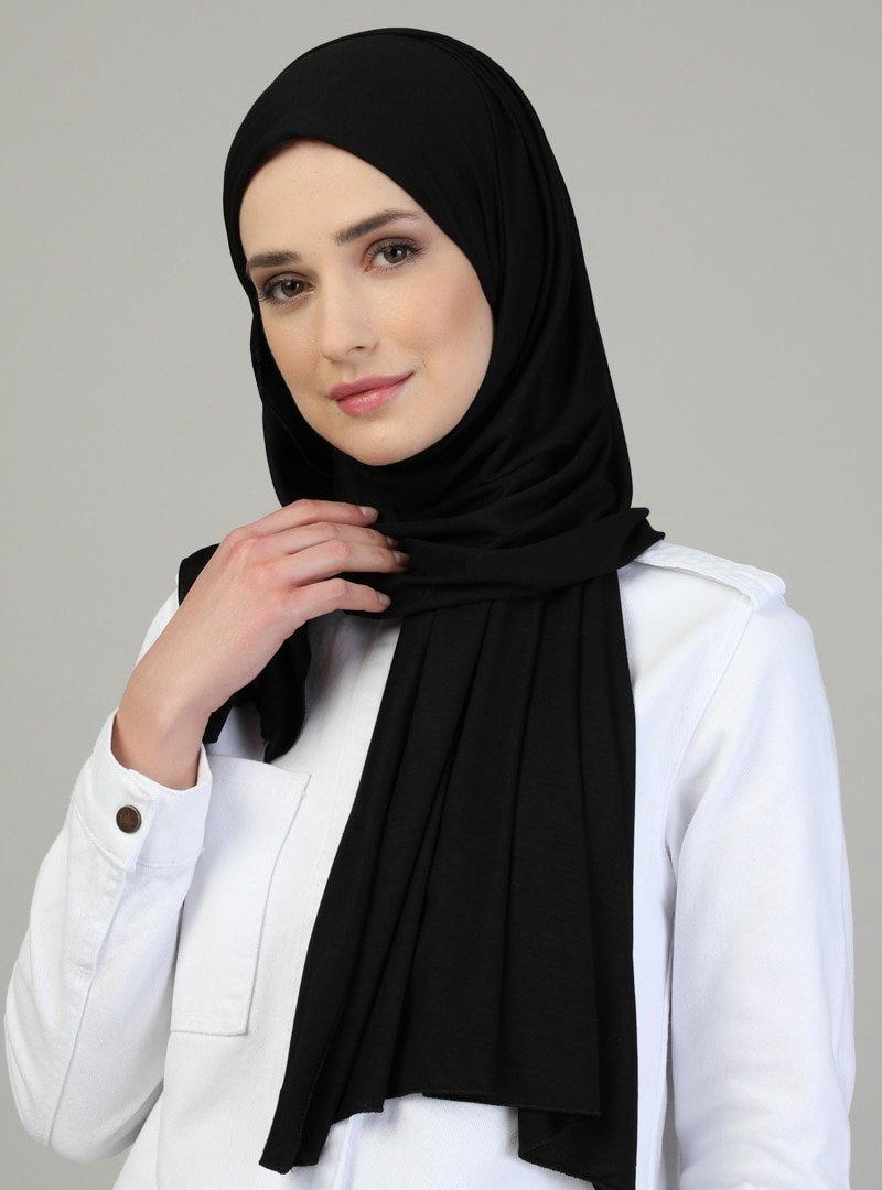 Mervin Şal Pratik Viskon Şal Siyah