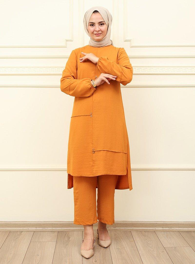Moda Dua Hardal Tunik & Pantolon İkili Takım