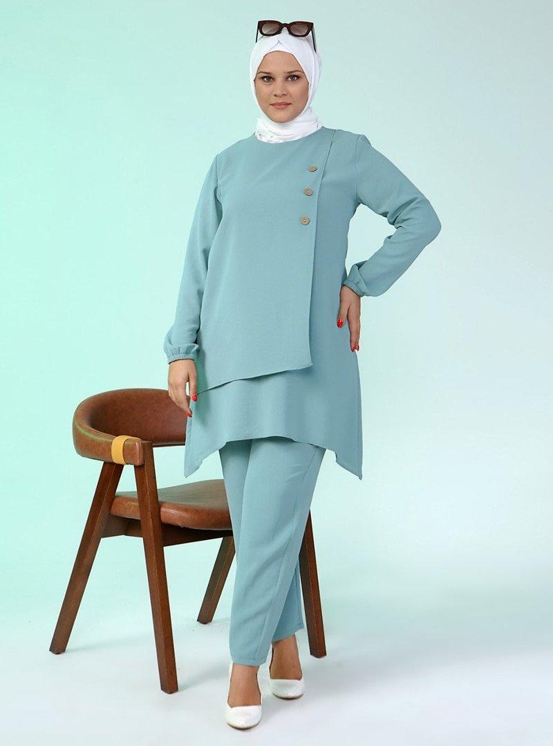 Ferace Su Yeşili Tunik & Pantolon İkili Takım