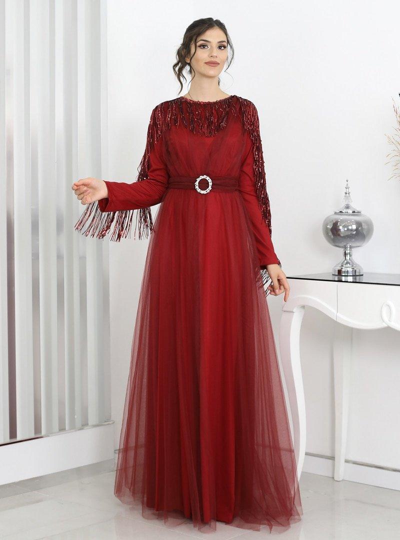Surikka Bordo Behrem Abiye Elbise