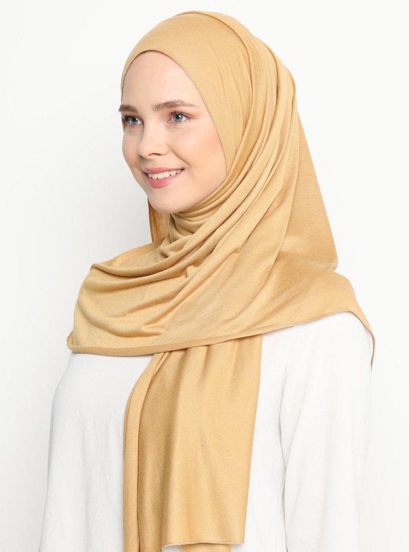Tachnisa Camel Mina Penye Şal