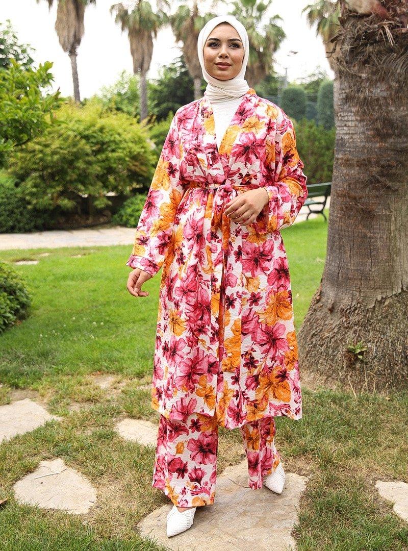 Savewell Woman Nar Çiçeği Karen Kemerli 3'lü Kap Takım