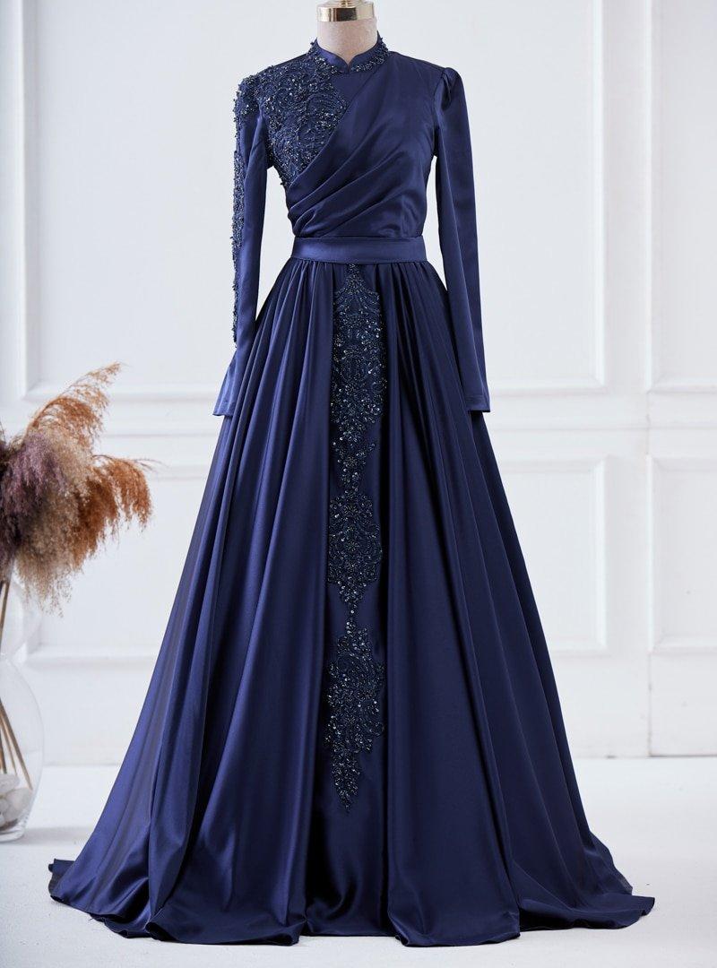 LARACHE Lacivert Şehrazat Abiye Elbise