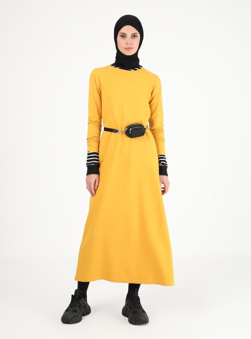 Muni Muni Hardal Sade Elbise