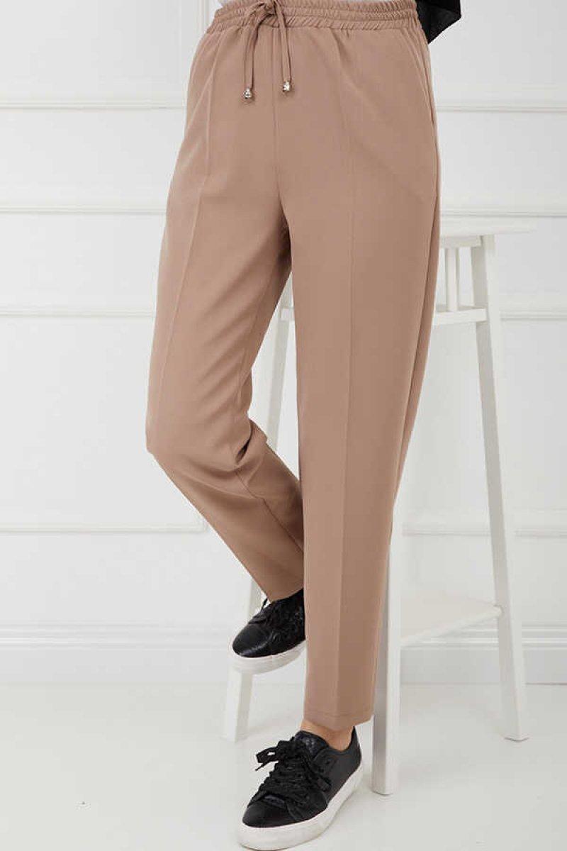 HAKİMODA Vizon Beli Lastikli Pantolon