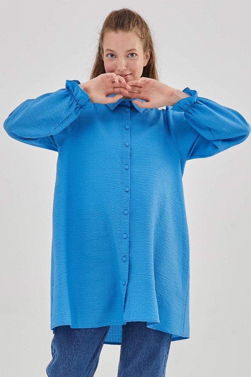 Hooopstore Saks Mavisi Luna Gömlek