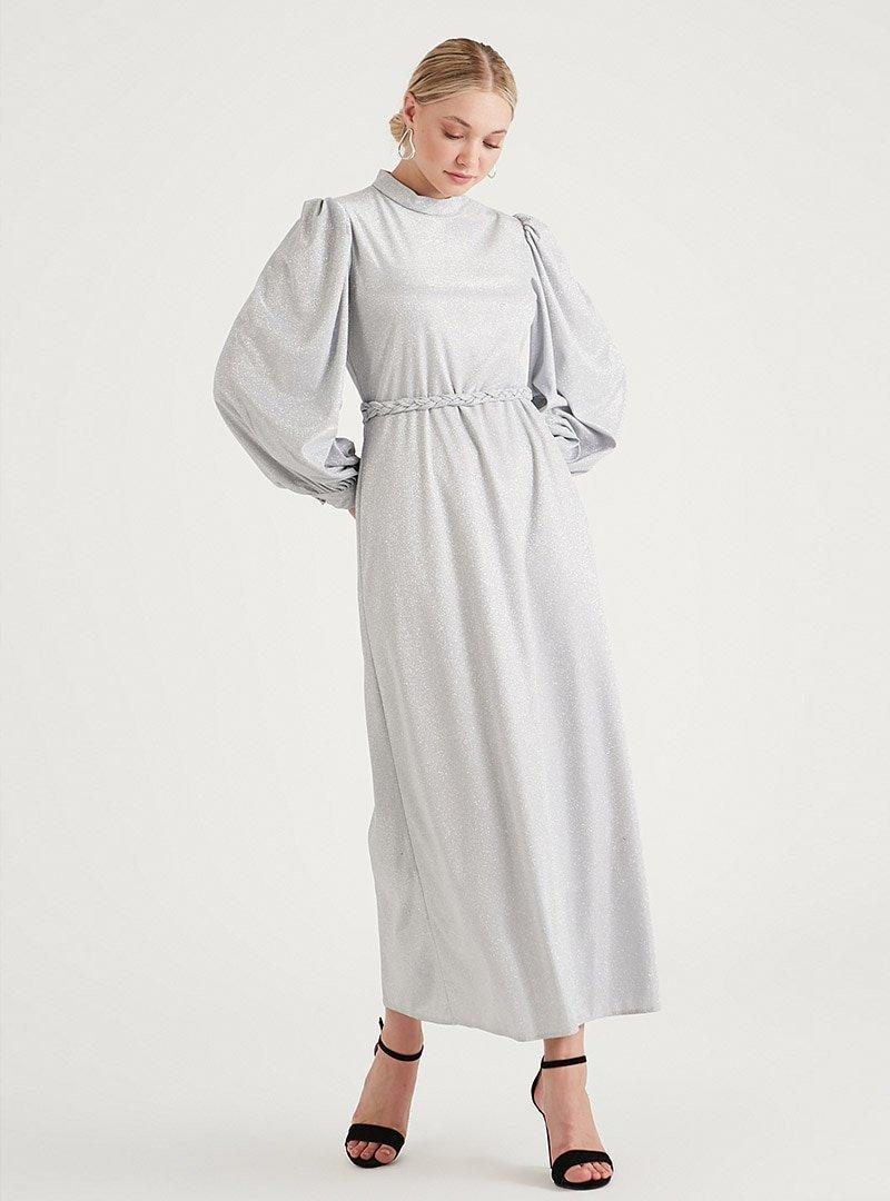 Birgül Bektaş Gri Jesse Abiye Elbise