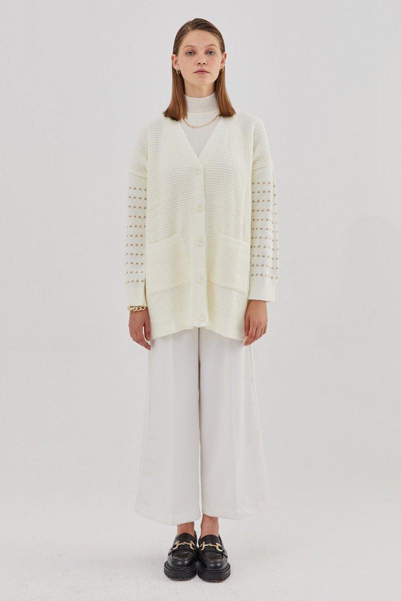 Hooopstore Beyaz Classy Pantolon
