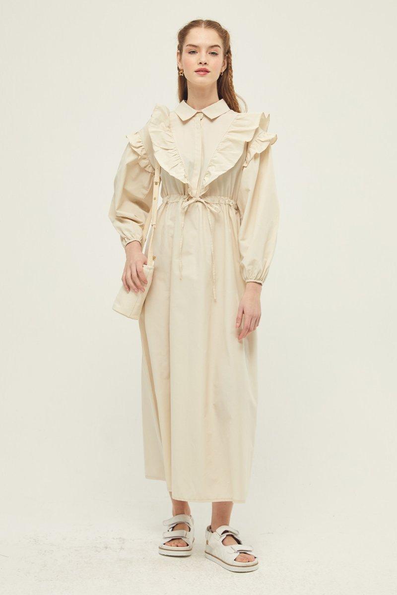 Hooopstore Bej Julıet Elbise