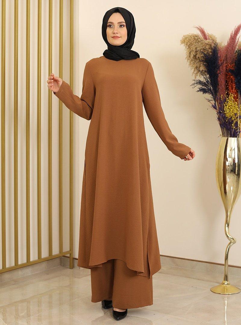 Fashion Showcase Design Kahverengi Ece İkili Takım
