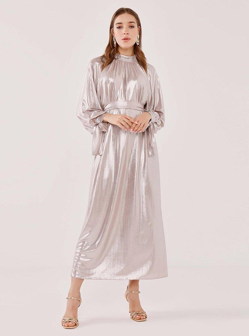 Birgül Bektaş Pudra Stella Abiye Elbise