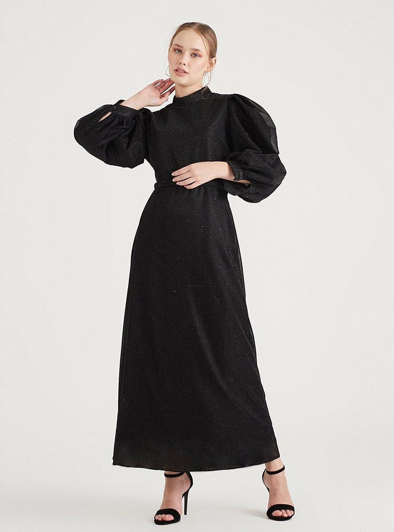 Birgül Bektaş Siyah Jesse Abiye Elbise