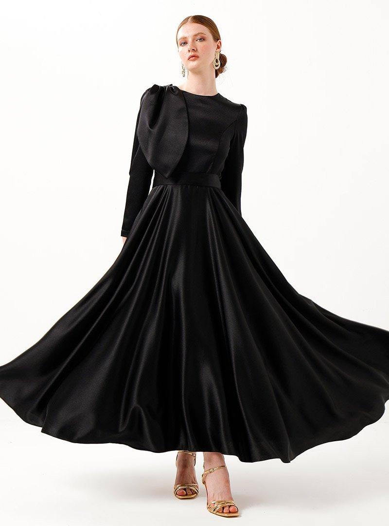 Birgül Bektaş Siyah Vera Abiye Elbise