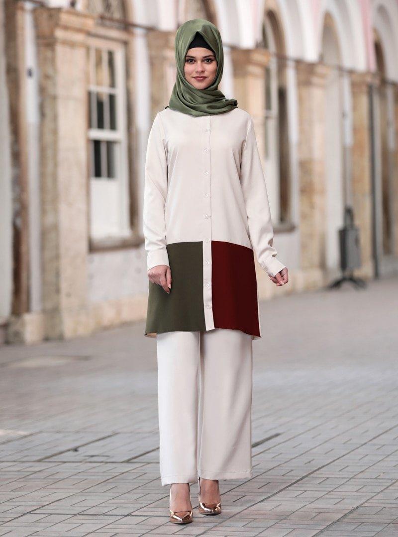 Sure Haki Sare Tunik & Pantolon İkili Takım