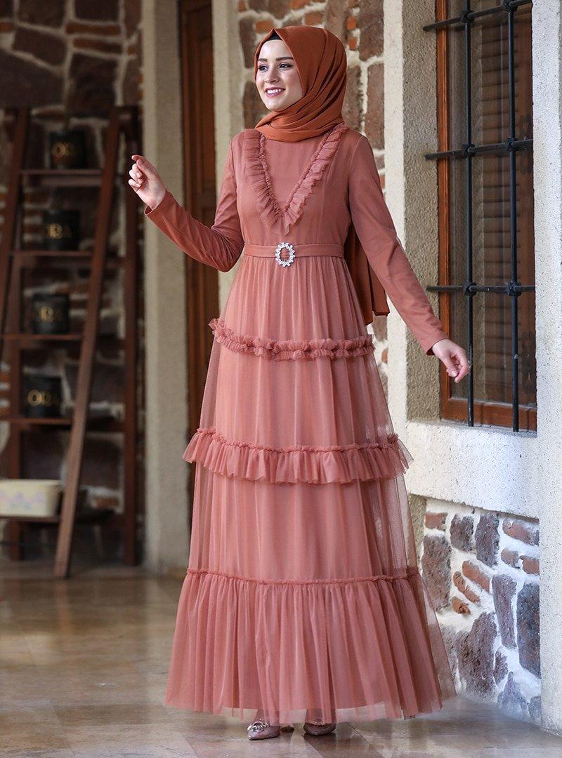 Amine Hüma Tarçın Şenay Abiye Elbise