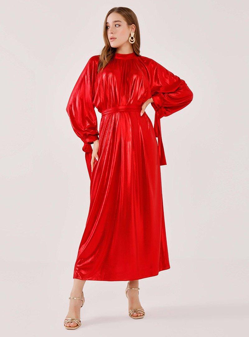 Birgül Bektaş Kırmızı Stella Abiye Elbise