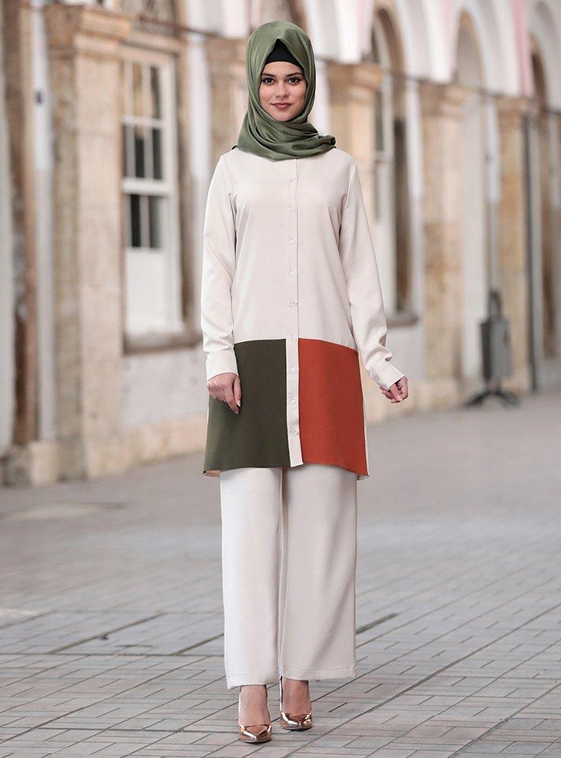 Sure Taş Sare Tunik & Pantolon İkili Takım
