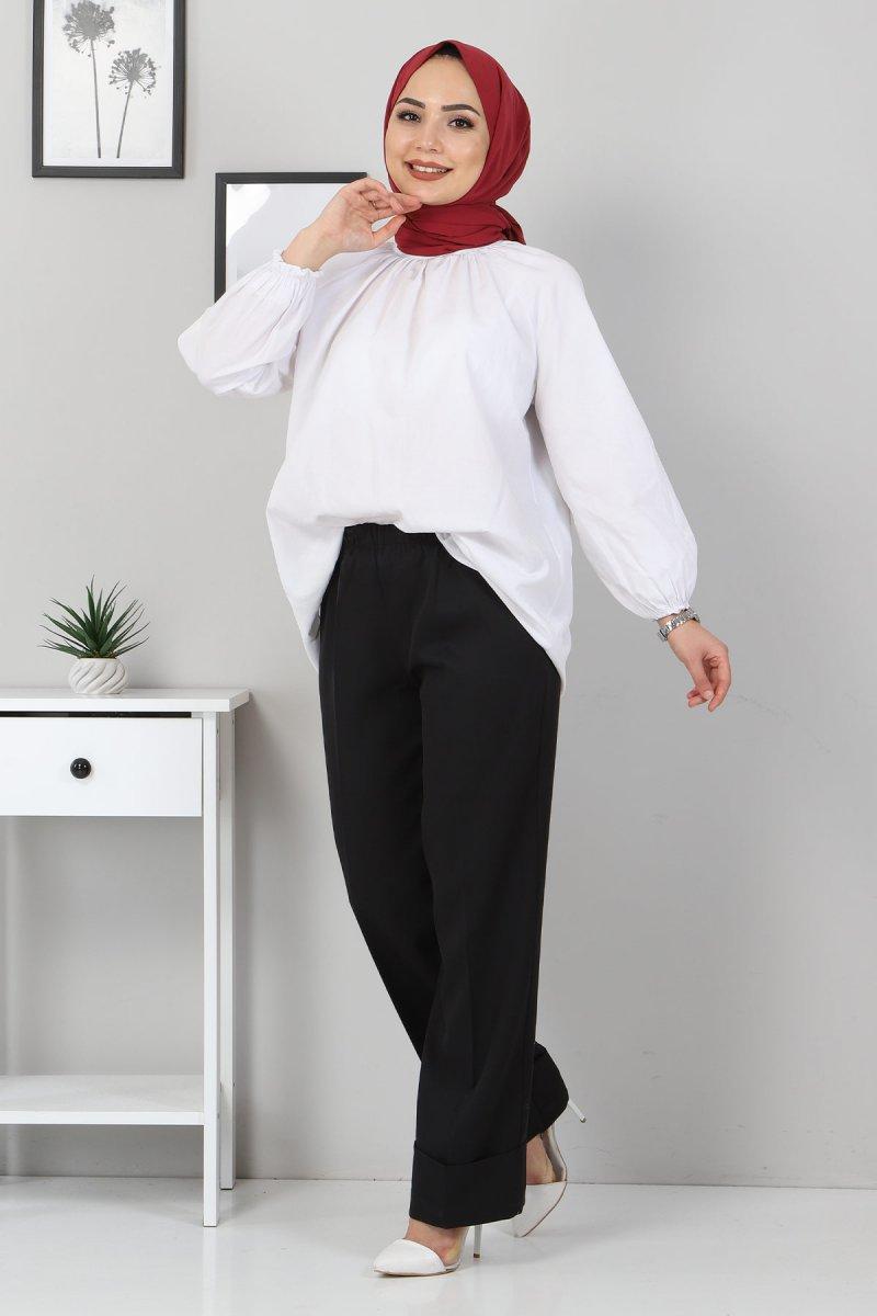 MISSVALLE Siyah Duble Paça Kumaş Pantolon