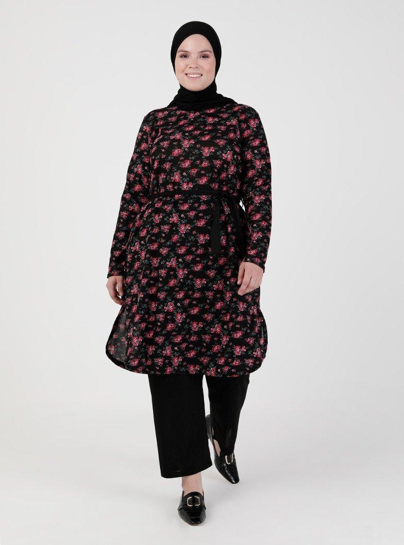 GELİNCE Siyah Tunik & Pantolon İkili Takım